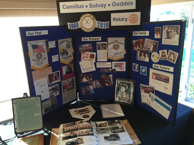 Part of the Camillus Solvay Geddes memorabilia on display